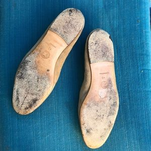 CHANEL Shoes - Chanel-tan suede ballet flats